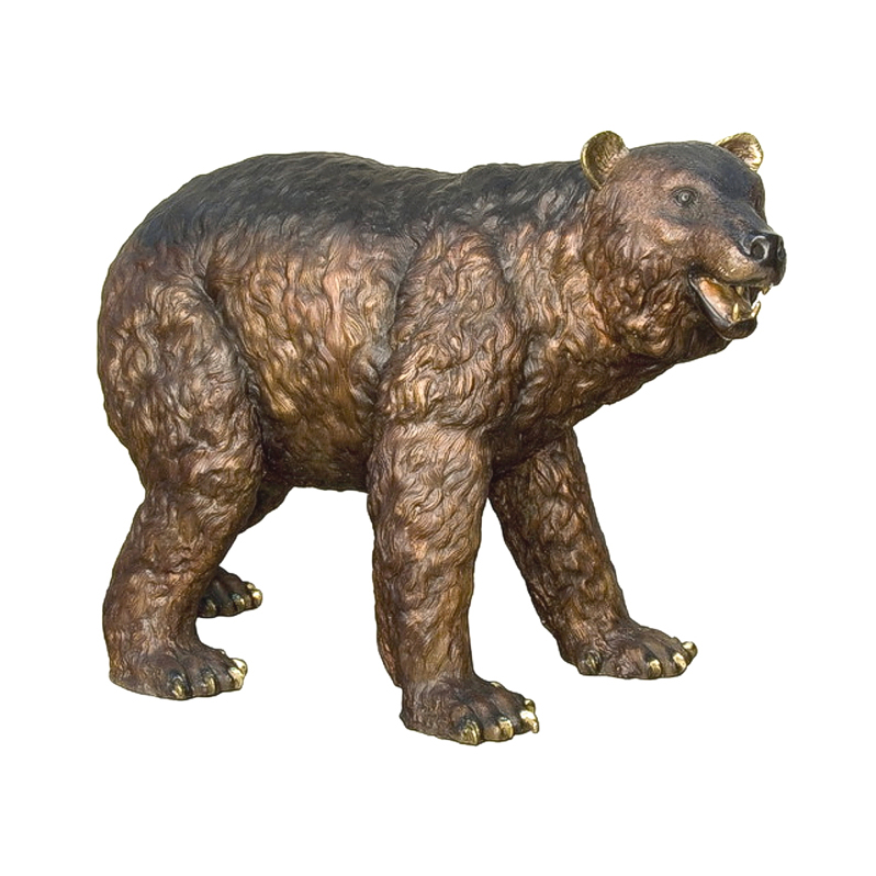 Life size bear animal statue sculpture for garden decor