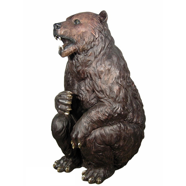 Life size high quality garden bear statue for sale