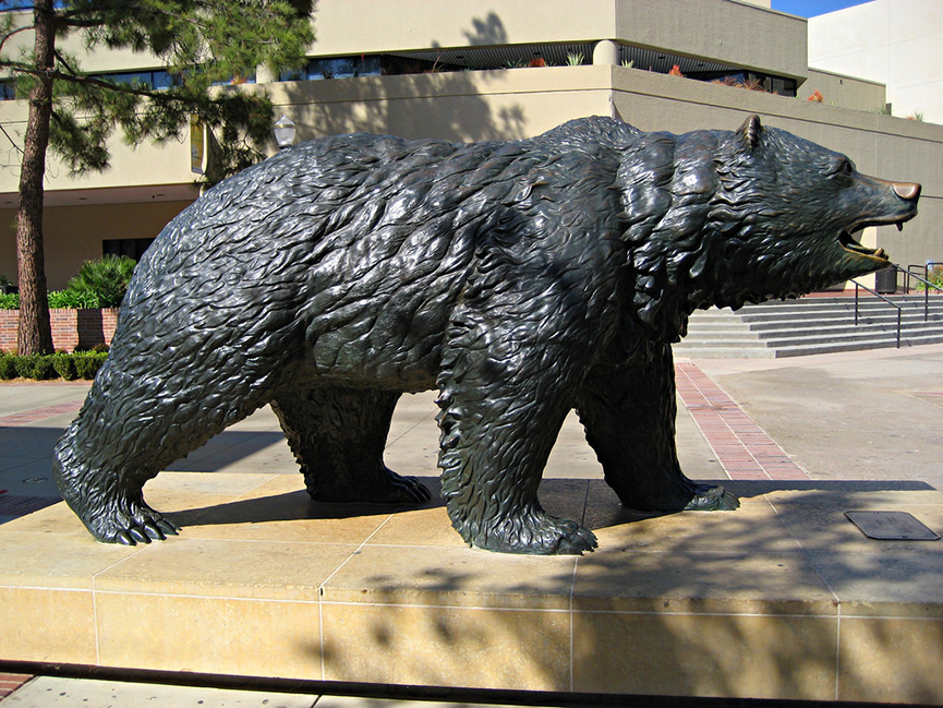 New products life size bronze polar bear statue for sale