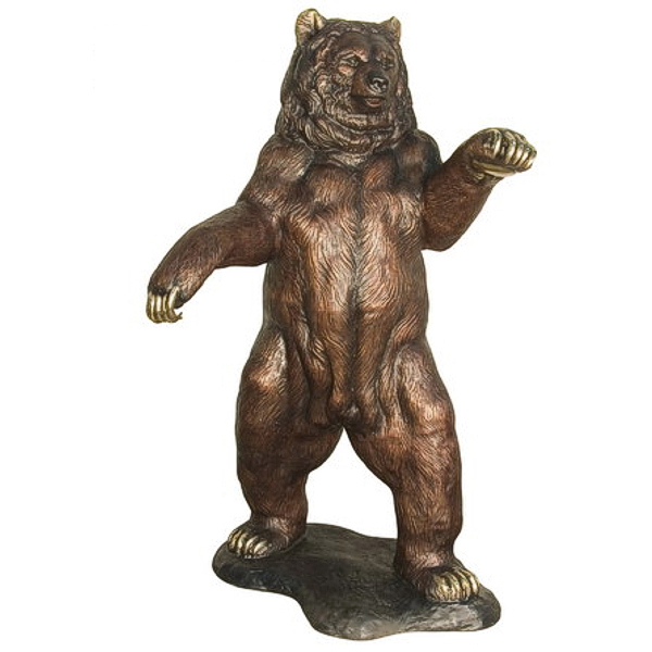 new products outdoor large brass black bear statues for sale