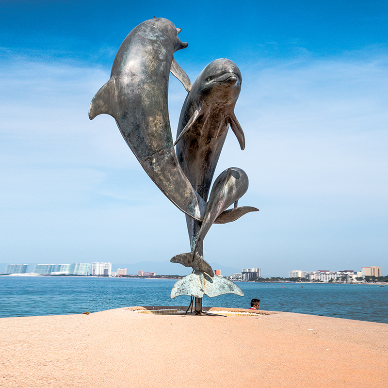 bronze dolphin outdoor statues for sale