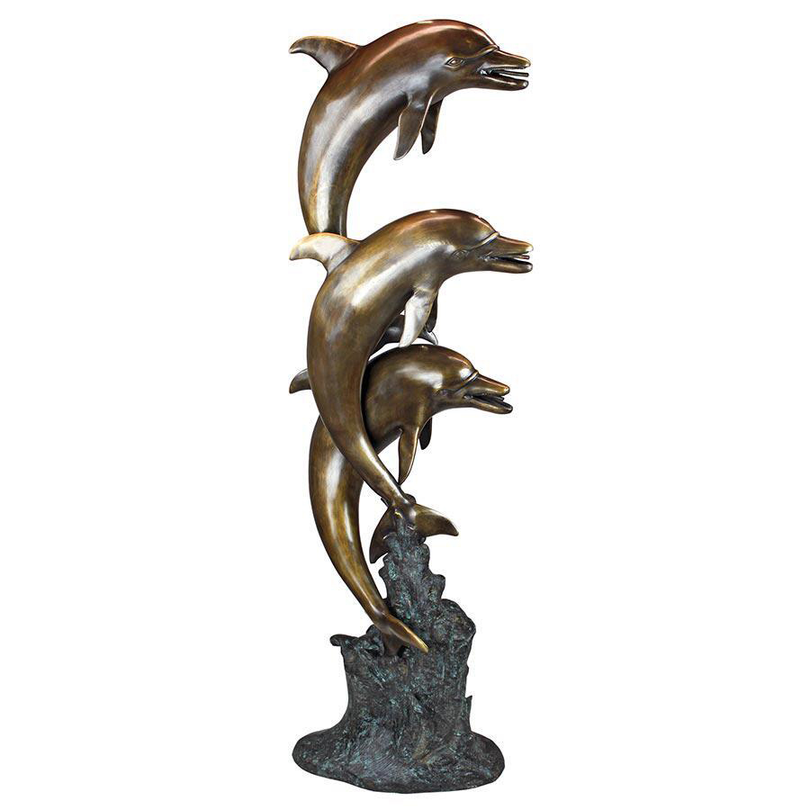 high quality dolphin fountain sculpture for garden decoration