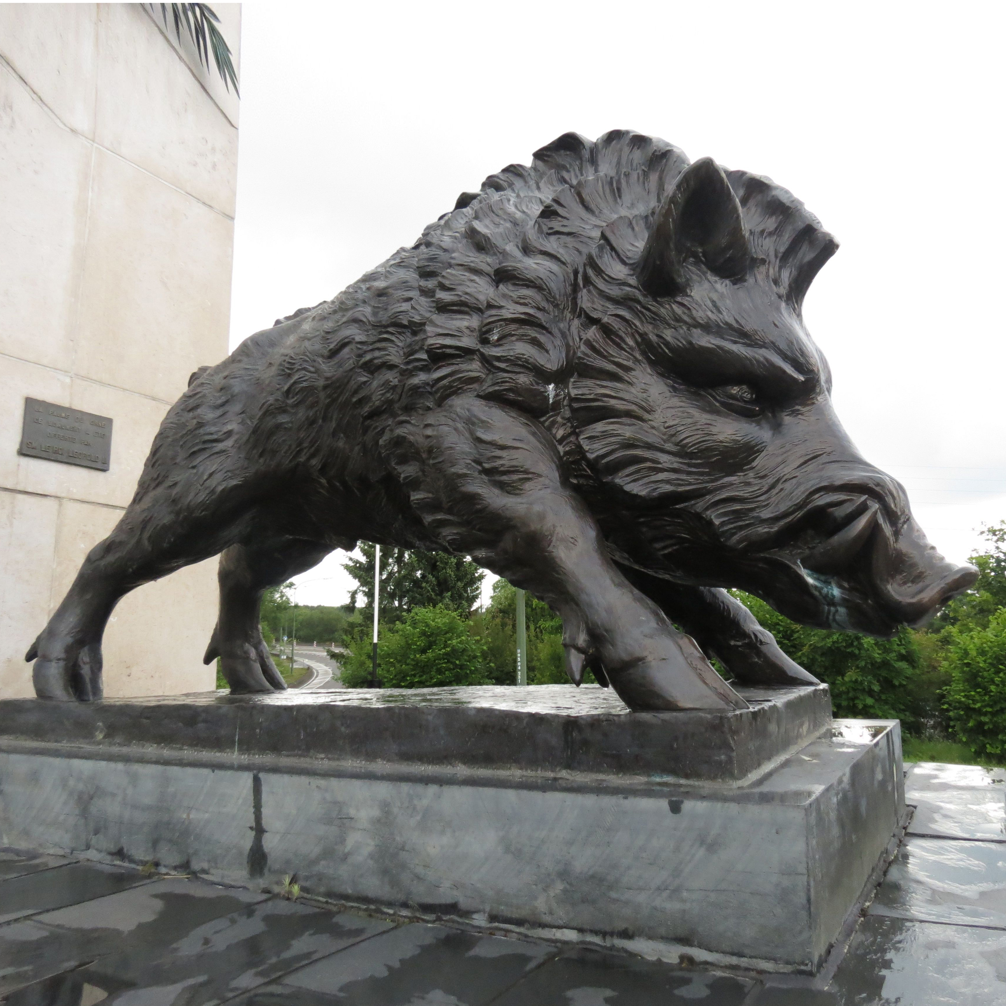Bronze garden wild boar statue for sale