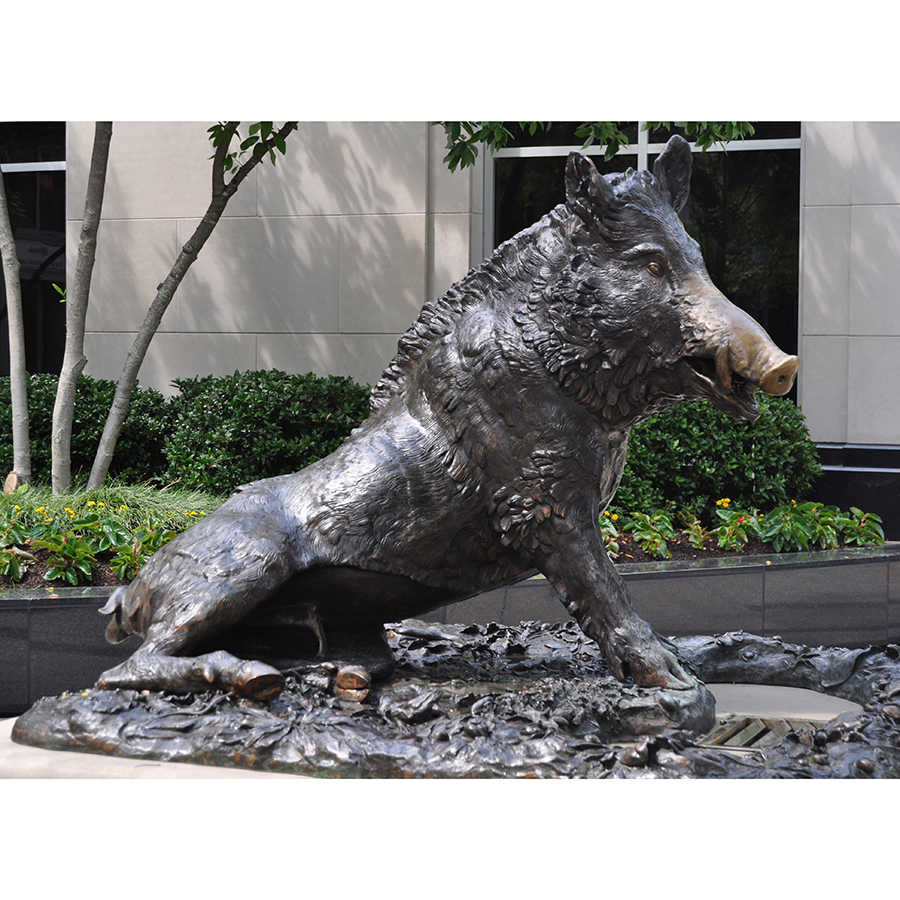 famous cast bronze wild boar statue for sale